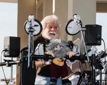 Steve on drums